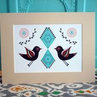 'Folk Bird' Illustration