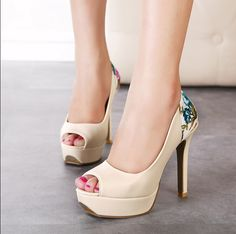 FashionConcisePrintedFlowerPeep-toeApricot (CD15030503-1)http://www.clothing-dropship.com/fashion-concise-printed-flower-peep-toe-apricot-g2329527.html