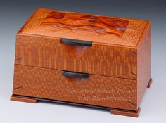 Scalloped Cocobolo Rosewood in Leopardwood Double Decker Box