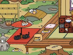 Tubbs is one of the many cats you can collect in the game Neko Atsume: Cat Collector.