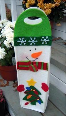 Felt Snowman Wine bottle cover
