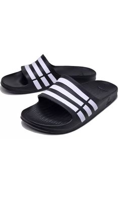 d713b228390a ADIDAS Black White DURAMO SLIDES ATHLETIC SANDALS SPORT MENS 11 46 G15890  NEW  fashion  clothing  shoes  accessories  mensshoes  sandals (ebay link)