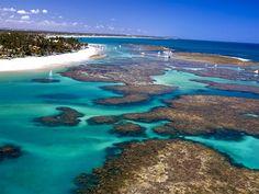 Praia de Porto de Galinhas, estado de Pernambuco, Brasil.