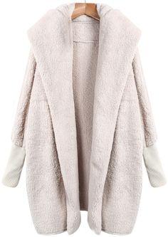Абрикосовое свободное пальто