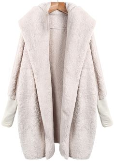Apricot Lapel Long Sleeve Loose Coat,    #Sweaters,    #sweater141010004