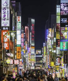 Tokyo, Japan | Lose yourself in color in these landscapes around the world, from pink lakes in the Caribbean to the neon lights of Tokyo.