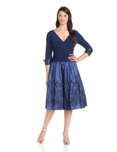 Jessica Howard Women's 3/4 Sleeve Surplus Bodice Dress, Royal, 6 Jessica Howard, FASHION INSPIRATION if you wish to buy just CLICK on AMAZON right HERE http://www.amazon.com/dp/B00DR8U9R6/ref=cm_sw_r_pi_dp_I9nRsb1Y6E3VAY02