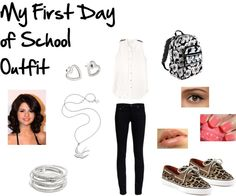 """My First Day of School Outfit"" by samantha72797 on Polyvore"