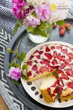 Ciasto z truskawkami na oleju. Pokochaj olej rzepakowy - Lawendowy DomLawendowy Dom
