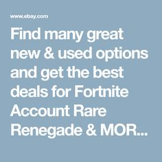 Find many great new & used options and get the best deals for Fortnite Account Rare Renegade & MORE at the best online prices at eBay! Free shipping for many products! Vintage Straight Razors, Trash Pack, Sacred Heart, Blue Crystals, Aqua Blue, Shaving, Party Supplies, Accounting, Balloons
