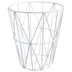 Wire Waste Paper Basket this basket is a live wire—so keep your eyes on it and make sure