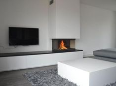 Fireplace and TV concept Living Room Wall Units, My Living Room, Home And Living, Living Room Decor, Fireplace Tv Wall, Modern Fireplace, Fireplace Design, Living Room Inspiration, Interior Design Living Room