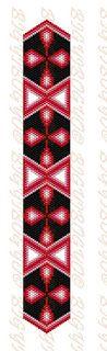 Bigyibogyó: Peyote ékszerszett minta - karkötő, háromszög, mandala