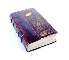 1883 Antique French Old Book Quarter Leather by FrenchMarketFinds, €50.00
