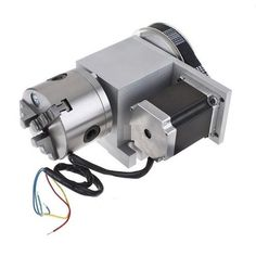 CNC Router Rotational Axis, the 4th Axis, 80mm Diameter 3 fingers