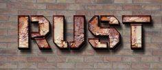 Создаём текст из ржавого металла в Фотошоп