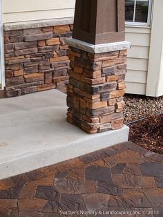 Front Entry Stoop & Sidewalk Renovation : Minnesota Landscape & Home Ideas House With Porch, House Front, Porch Kits, Porch Ideas, Patio Ideas, Yard Ideas, Minnesota Landscaping, Building A Porch, Front Entry