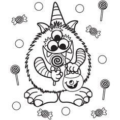 Disney Halloween Monster Inc Coloring Sheet For Kids Picture