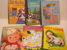Mixed Lot of Vintage -Little Golden Books - Rocky and Friends,Casper in Ghost land, Baby Looks, Baby Birthday- plus more! by ScrapPantry, $18.00 USD