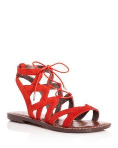55c4f2497c335 Sam Edelman Gemma Lace Up Sandals Shoes - Bloomingdale s