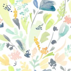 Pastel Flowers Removable Wallpaper