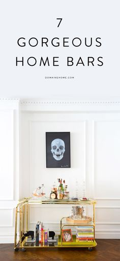 #LGLimitlessDesign #Contest Stunning home bar! Booze, books, rhino, skull print. So cool.