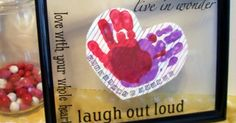 Have your preschooler make a cute Preschool Valentines craft with this Framed Heandprint Heart!