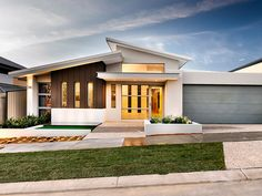 Ancient architecture modern house plans one story open spaces, modern house plans 4 bedroom design, modern house p Flat Roof House Designs, House Roof Design, Facade House, House Facades, House Floor, Modern Roofing, Modern Exterior, Exterior Design, Modern Roof Design