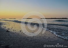 A beautiful sunset on the Adriatic Sea in Italy near Pesaro and Fano