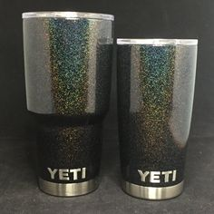 Prismatic Black Powder Coated Yeti Rambler by SmallBatchYetis