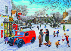 Christmas Post Puzzle #jigsaw #puzzle #xmas #christmas #grandparents #children #fun #family #hobby #gibsons