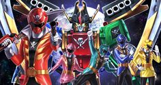 Fan art of Kaizoku Sentai Gokaiger which will be being used for Power Rangers Super Megaforce.