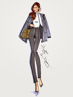 #Hayden Williams Fashion Illustrations #Style On The Go: 'Shades of Grey' by Hayden Williams