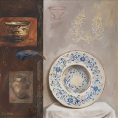 Jaco Benade, Still life with Delft Plate South African Art, Jaco, Delft, Still Life, Auction, Plates, Stylish, Artist, Licence Plates
