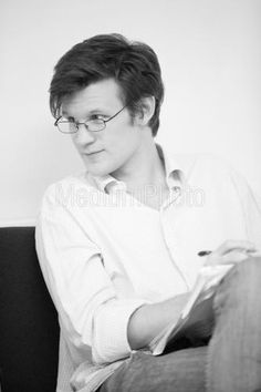 This is the most beautiful picture I've ever seen. Matt Smith. --- Well *pulls of sunglasses very fancy like* Hello there.