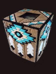 SOUTHWESTERN FEATHERS - Dreamcatcher - Boutique Size Tissue Box Cover - Navajo