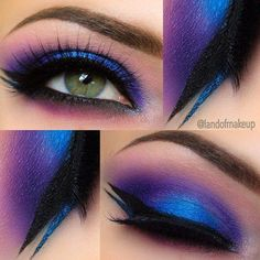 Amazing purple makeup #landofmakeup #blue #eyeshadow #metallic