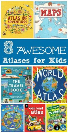 for Kids: 8 Awesome Atlases Great geography for kids -- learn about the world with these fun map books!Great geography for kids -- learn about the world with these fun map books! Geography For Kids, Geography Activities, Teaching Geography, World Geography, Literacy Activities, Activities For Kids, Geography Map, Geography Lessons, Educational Activities