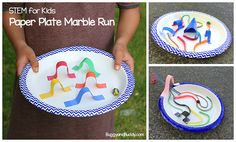 Now this is cool! STEM Challenge for Kids: Design a Paper Plate Marble Maze