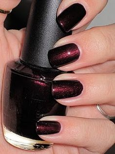 My current favorite- OPI Midnight in Moscow