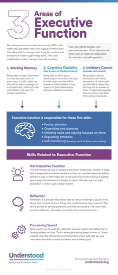 Grapic of: 3 Areas of Executive Function
