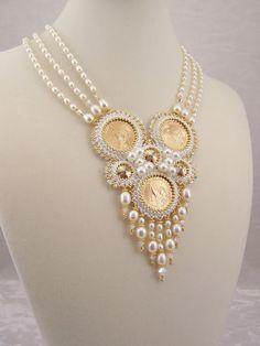 Beautiful beaded jewelry by Marsha Wiest-Hines Sea Glass Jewelry, Pearl Jewelry, Beaded Jewelry, Jewelery, Handmade Jewelry, Jewelry Necklaces, Money Necklace, Long Necklaces, Jewelry Tree
