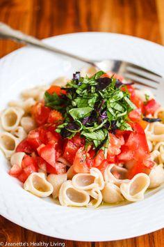 Pasta Primavera with Fresh Tomatoes, Basil and Garlic Recipe