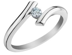 Solitaire Diamond Promise Ring 1/10 Carat (ctw) in 10K White Gold