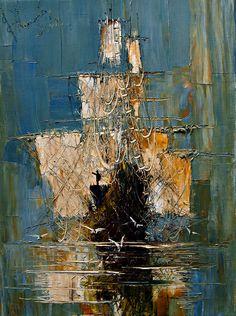 "Saatchi Online Artist: Justyna Kopania; Oil, 2012, Painting ""Mist..."""