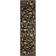 Safavieh Lyndhurst Traditional Floral Black/ Multi Rug (2'3 x 16') - Free Shipping Today - Overstock.com - 14106680