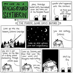 Home of comics including Background Slytherin, Bloodlust & Bonnets and more. Harry Potter Comics, Harry Potter Marauders, Harry Potter Jokes, Harry Potter Fandom, Harry Potter World, Background Slytherin, 4 Panel Life, Drarry, Dramione