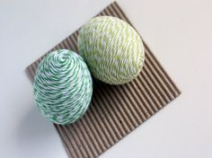 Baker's twine wrapped eggs