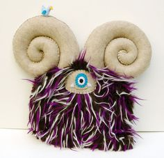 Darren - Hand-stitched plush monster by Diane Koss on Etsy.com