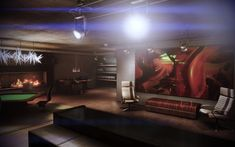 Mass Effect 3 Citadel Apartment - Back Living Room with Bar and Gambling Table Mass Effect Citadel, Mass Effect 1, Mass Effect Quotes, Sci Fi Fantasy, Outer Space, Architecture Details, Awesome Stuff, Cyberpunk, Character Art